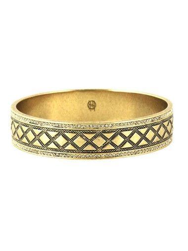 House of Harlow Shatki Engraved Bangle Gold - PRE ORDER - The Style Merchant