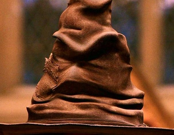 The Sorting Hat is a sentient Hogwarts artefact which magically determines to which of the four school Houses each new student is to be assigned. These four Houses are Gryffindor, Hufflepuff, Ravenclaw and Slytherin.
