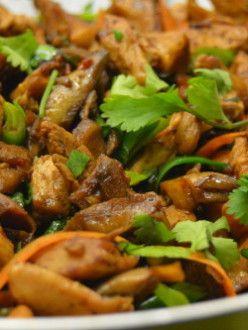Laskagombás kínai csirke