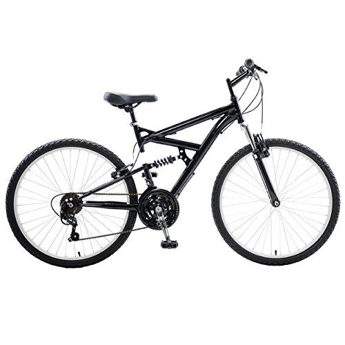Cycle Force Dual Suspension Mountain Bike 26 inch wheels 18 inch frame Mens Bike Black -- Want to know more, click on the image.