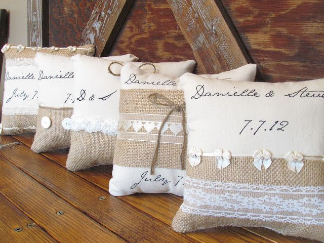 Taking Notes...Coast to Coast: Wedding: Ring Bearer Pillow