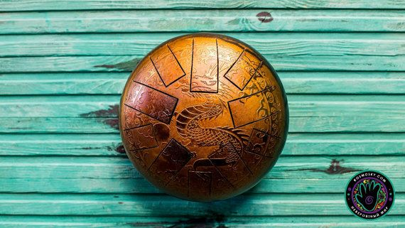 Check out this item in my Etsy shop https://www.etsy.com/ru/listing/467401310/kosmosky-tank-drum-9-size-steel-tongue  #kosmosky #tankdrum #hangdrum #handpan #steeldrum #dragon