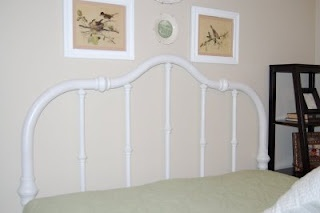 Bless Our Nest: Brass Headboard; pinning it so I remember how to do it