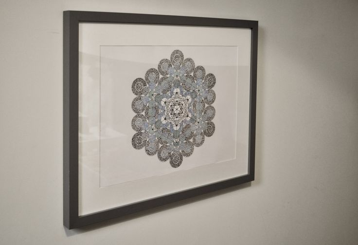 Big Metatron Cube. A3 original framed drawing. Ink on paper (200 GSM) by GraphicMandala on Etsy