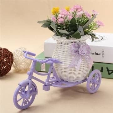 FREE SHIPPING! Tricycle Bike Flower Basket Storage Container Party Wedding Decorated Basket