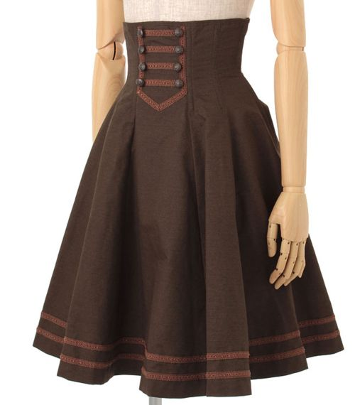 Used to have a skirt like this one.  steampunk lolita | Tumblr