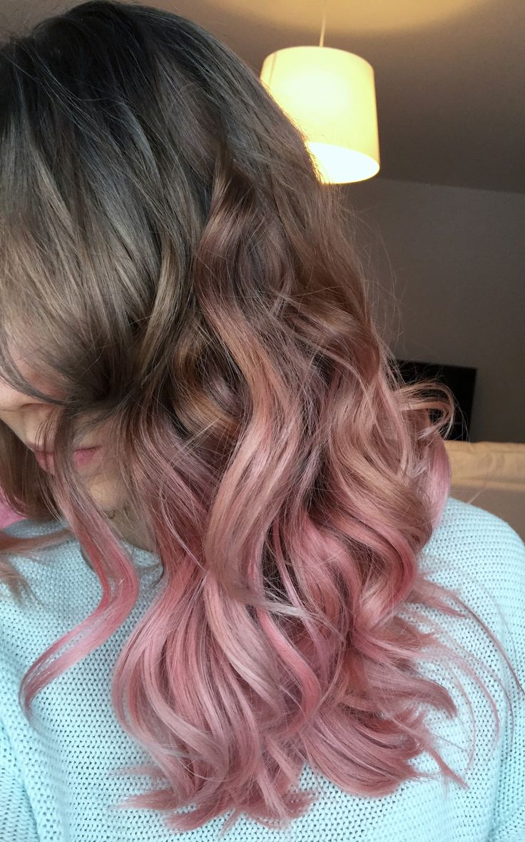 Road to grey. First stop; ash to pastel pink ombre