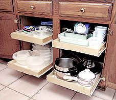 Best kitchen organization site ever. Has everything! kitchen shelves pantry shelves pull out sliding shelf kitchen cabinet roll out storage bathroom  pantry pullout slideout shelving rollout shelfs rolling