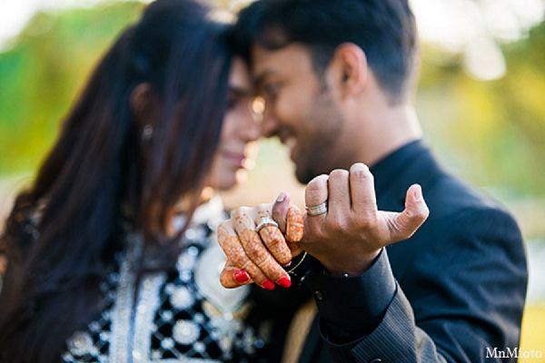 indian wedding bride groom engagement ring
