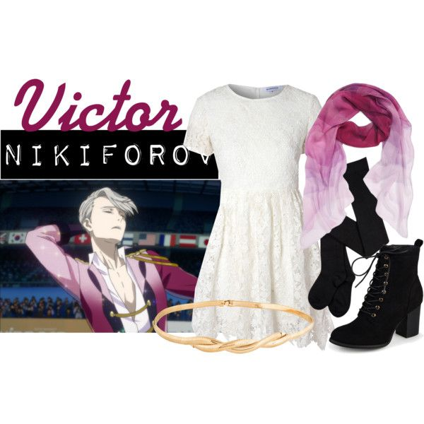 Casual cosplay of Victor Nikiforov (from Yuri!!! On Ice anime series)-- character inspired outfit