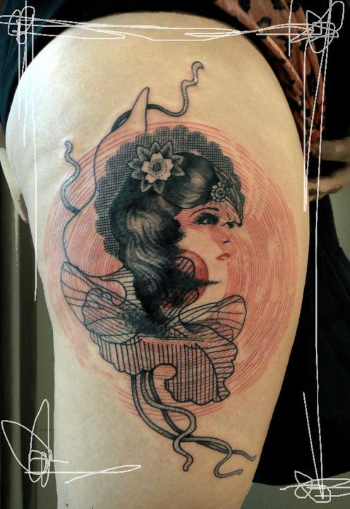 Sake Tattoo studio (Athens): Tattoo Women, Tattoo For Artists, Tattoo Inspiration, Tattoo Artists, Side Tattoo, Thighs Tattoo, Xoil Tattoo, Tattoo Ink, Tattoo Culture