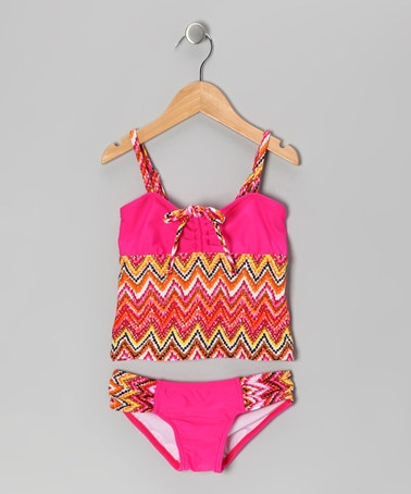 Take a look at this Artesian Pink Tankini by Toes on the Nose on #zulily today!