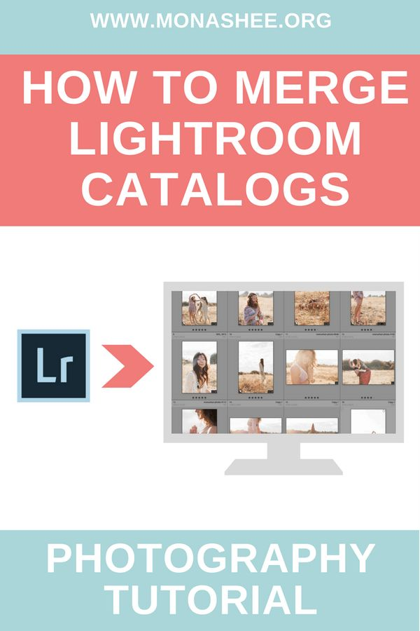 photography tutorial on how to merge Lightroom catalogs together to make one master catalog. https://monashee.org/how-to-merge-lightroom-catalogs/