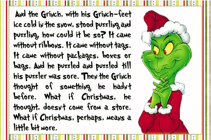 Grinch Christmas Quote Card Tag Use For Anything My