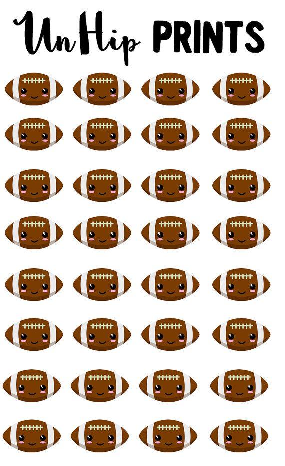 Sports Stickers Football Stickers Kawaii Sports by UnHipPrints