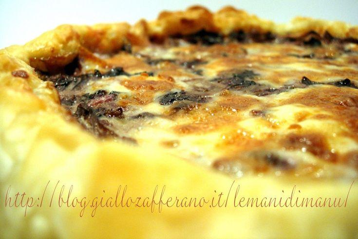 Torta salata di radicchio e taleggio | Ricetta torta rustica | Le Mani Di Manu