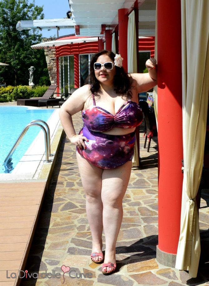 bikini taglie comode a vita alta galassia gabifresh per swimsuitsforall