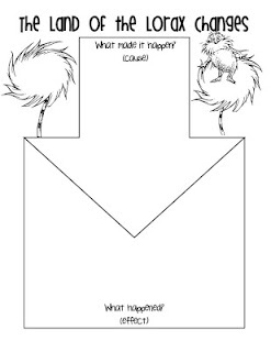 Worksheets Student Worksheet To Accompany The Lorax 99 best images about dr seuss on pinterest one fish two the lorax cause and effect graphic organizer