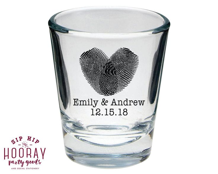 Wedding Favors, Shot Glasses, Personalized Shot Glasses, Shot Glasses, Wedding Shot Glasses, Shot Glasses, Finger Print Shot Glasses
