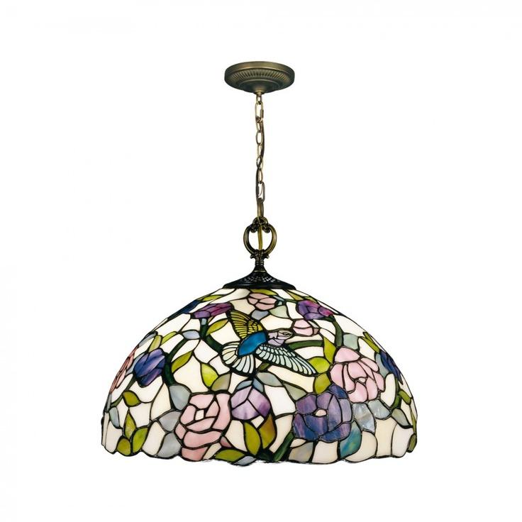 Dale Tiffany Ceiling Lights Nature Hummingbird Hanging Pendant in Antique  Brass - 7655/1LTA
