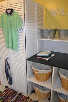 Laundry in the Garage on Pinterest