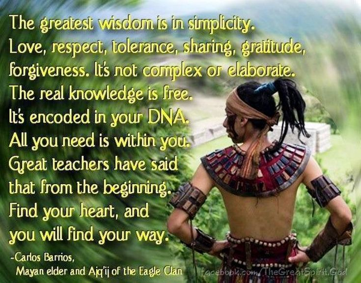 The Greatest Wisdom Is In Simplicity. Love, Respect
