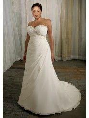 Chiffon Sweetheart Beaded Bodice Wedding Dress