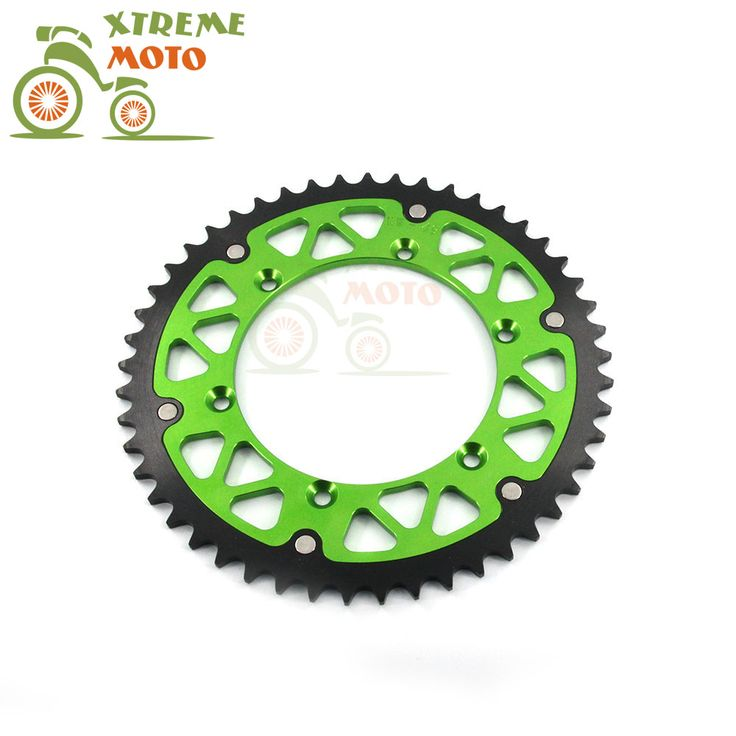 Green 49T CNC Rear Chain Sprocket For Kawasaki KX125 250 500 KDX175 200 220 250 KLX250R 300 250 450R 450F 650 Enduro Motocross