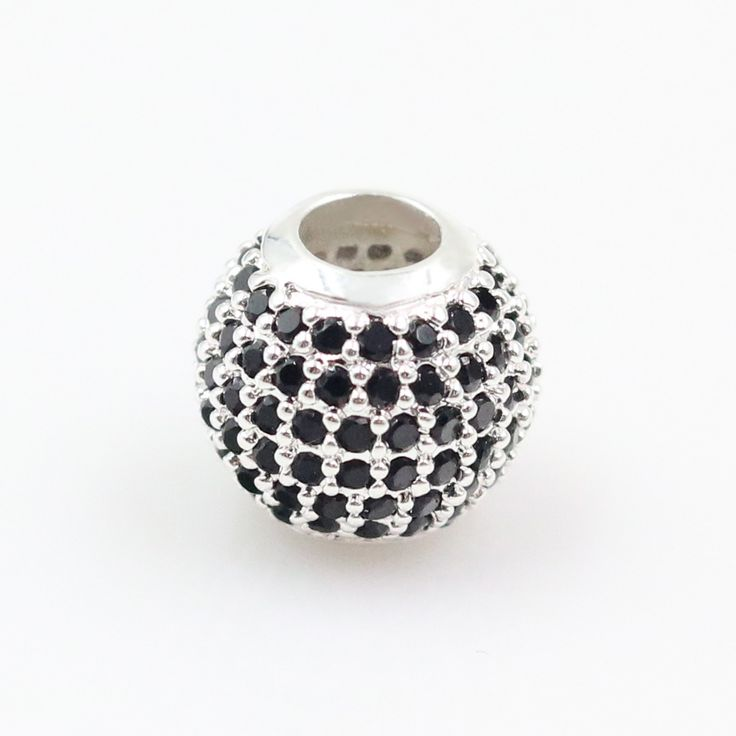TS Jewellery 925 Sterling Silver Black Bead, Thomas Style DIY Karma Beads for Jewelry Making Fit Charms Bracelets for Women Gift