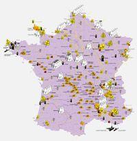 Cartes des sites nucléaires - Réseau Sortir du nucléaire