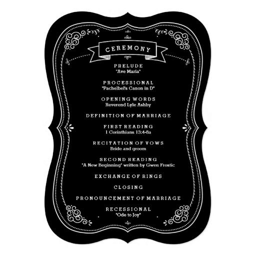 65 best wedding stuff images on pinterest zazzle invitations shop fancy chalkboard vintage wedding program created by katparrella personalize it with photos text or purchase as is stopboris Images