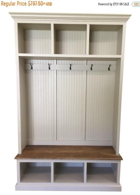 The Pennsylvania 2 Section Mudroom Bench Etsy Entryway Bench Storage Coat Rack With Storage Hall Tree