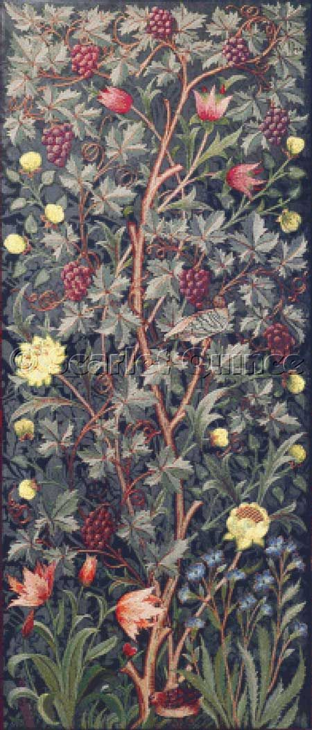 Cross stitch chart: Vine - John Henry Dearle