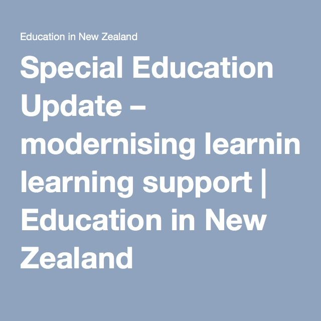 Special Education Update – modernising learning support | Education in New Zealand