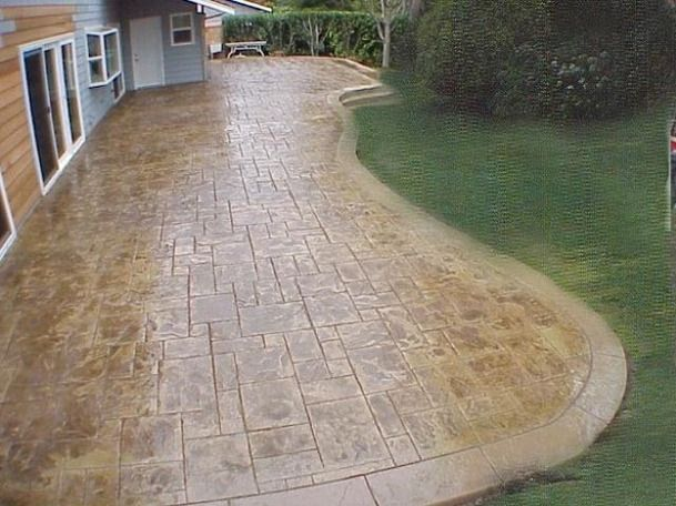Patio Designs Concrete | Now I Am Wondering If A Deck Would Be A Better (