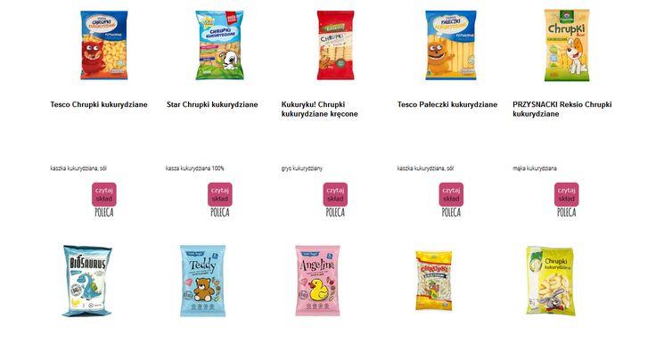 Czytamy skład i porównujemy etykiety produktów Chrupki kukurydziane. Zobacz skład i polecane produkty przez Czytaj Skład