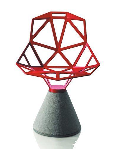 MAGIS CHAIR_ONE sedia con base in cemento e seduta in alluminio by Grcic