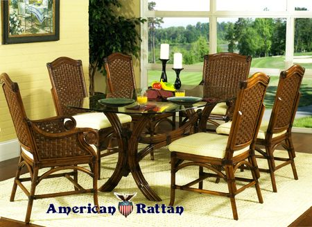Riviera Rattan and Wicker Dining Set from Classic Rattan. 52 best Furniture Made in USA   Classic Rattan images on Pinterest