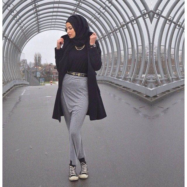 Love the skirt with converse