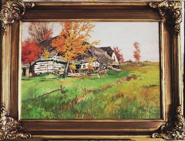 Porš Gustav ( 1888 - 1955 ) - Oldříš - olej,karton - 62x48