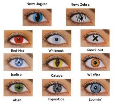 wild contacts | ... known as crazy contacts, novelty contacts or Halloween contact lenses