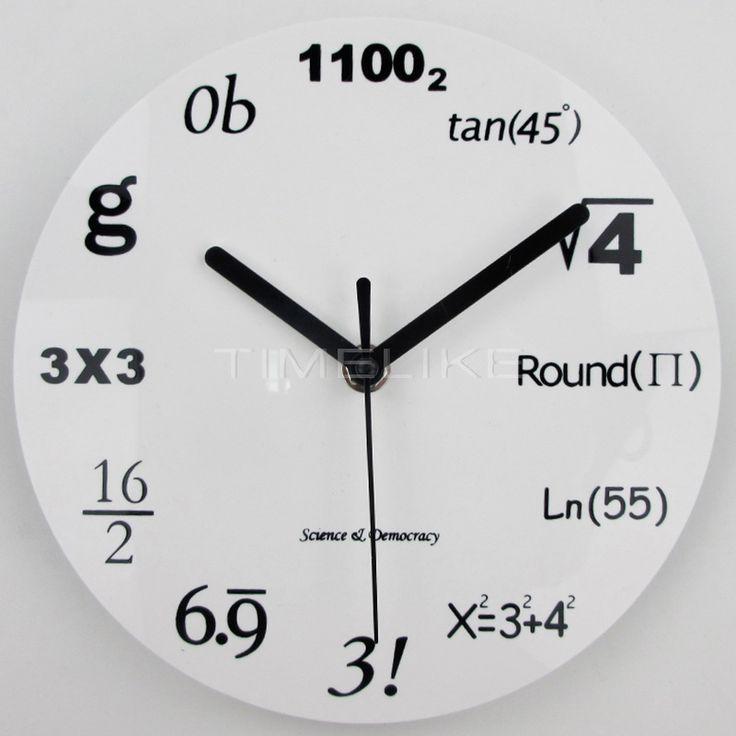 Nowoczesny Wystrój Domu Ścienne Akrylowe Zegar Ścienny Zegar Kwarcowy Zegarek Igły Horloge Równań Matematycznych