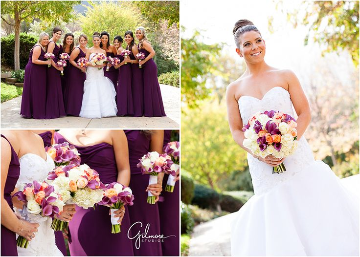 106 best images about weddings bridesmaids groomsmen for Cream and purple wedding dresses