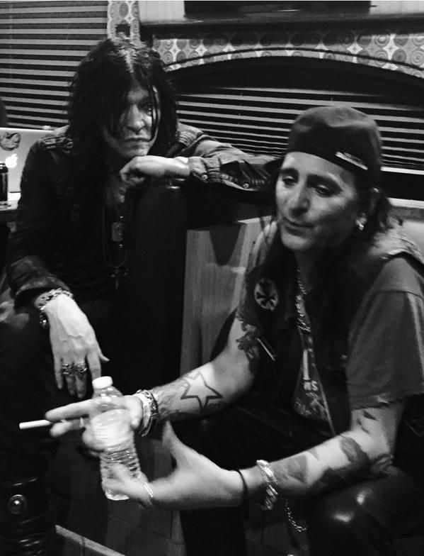 Tom Keifer & Taime Downe of Faster Pussy Cat  Pre show discussion.