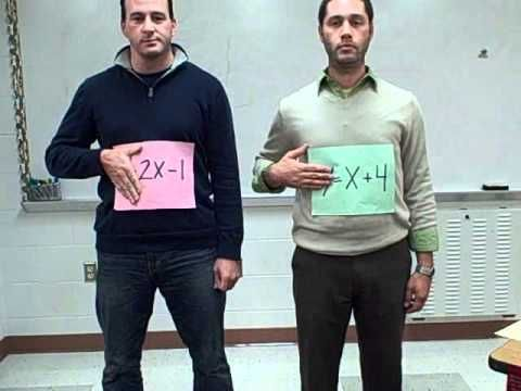 Sweet music video for solving systems of equations!  I can imagine playing this over and over for the little ones!