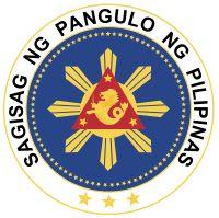 Brasão do Presidente das Filipinas. Seal of the President of the Philippines.
