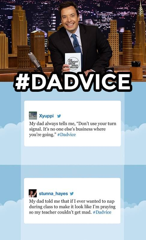 The Tonight Show starring Jimmy Fallon - Hashtags #dadvice