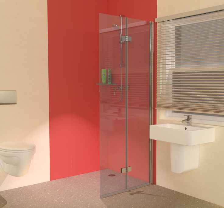 Not the colour or fittings - just the folding shower screen... [space saving hinged glass screen door]