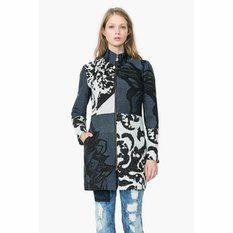 Manteau mi-long zippé esprit baroque femme Desigual