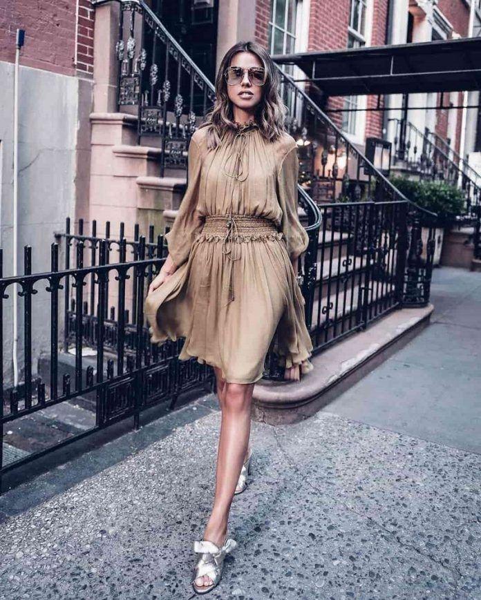 Самые модные повседневные платья 2018-2019 года, фото, идеи платья на  каждый день a9d5808f031